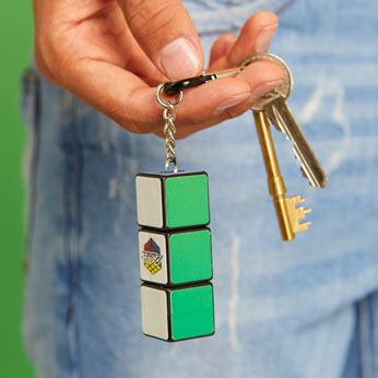 Rubik's flashlight keyring modelled on set of keys