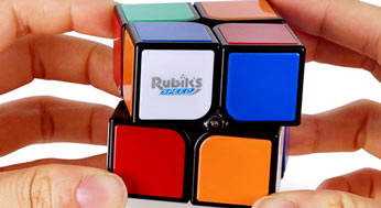 Rubik's 2x2 speecube in hands